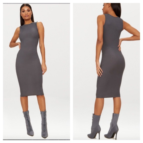 PrettyLittleThing Dresses & Skirts - Pretty Little Things ribbed midi dress NWT size 2